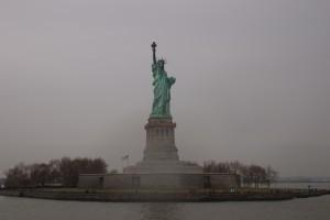 statue, liberty, pedestal, liberty, island