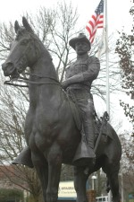 статуї, президент, Теодор, Рузвельт, грубий, rider, рівномірний, Верхова