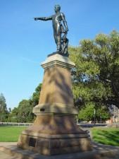 statue, William, Light, adelaides, founder, 1836