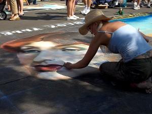 rue, peinture, asfalt