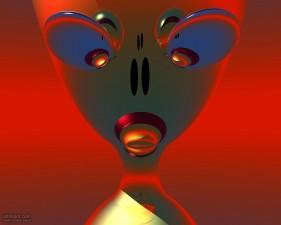 Alien, computer, kunst
