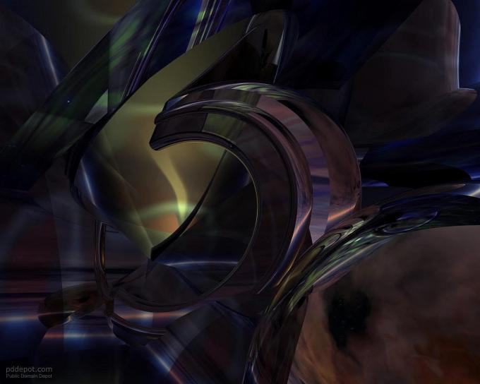 oscuro, 3d, arte