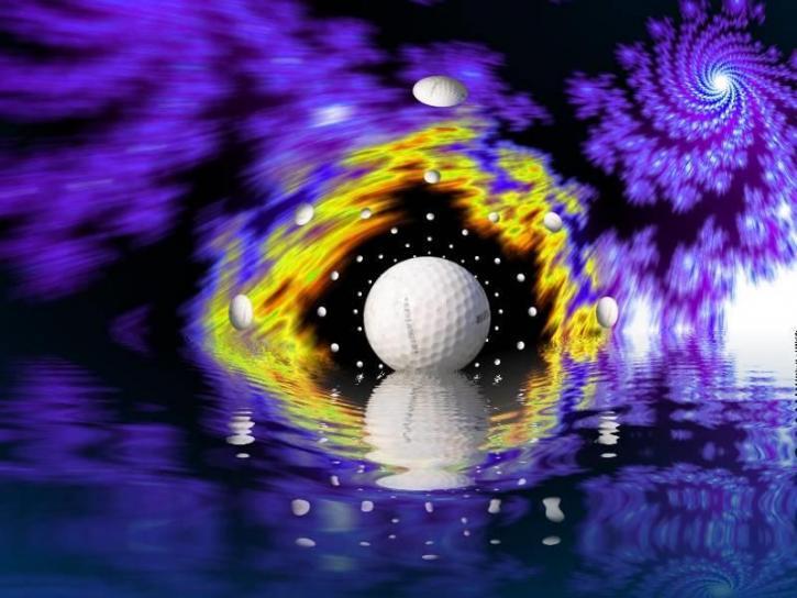 поле для гольфу, м'яч, галактики, художніх, зображення