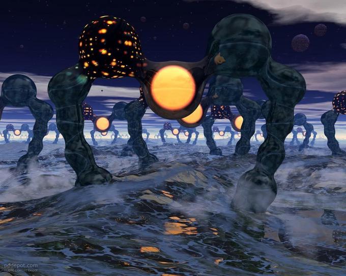 invasion, aliens, 3d, création