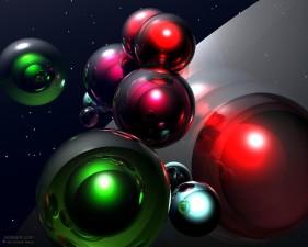 space, balls
