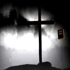 holy, cross, fog