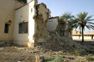 muthenna, ενδιάμεσο, σχολείο, Samawah, του Ιράκ, κατεστραμμένο