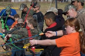 tiro con l'arco, studenti, pratica, le competenze