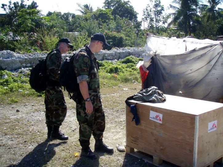 Unterstützung bei humanitären Anstrengungen
