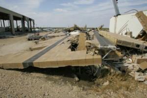 costruzione, demaged, distrutto, uragano, vento