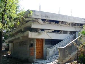 comum, cena, destruição, país, Haiti