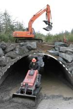 contractors, fills, bottom, bridge