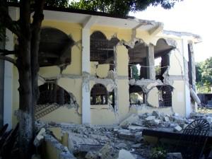 terremoto, devastado, edificio
