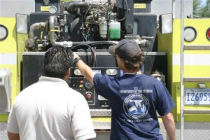 Feuer, LKW, Motor, Nutzung, Ausbildung