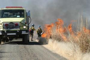 fireman, fire, truck, prescribed, fire, burns, marsh, action