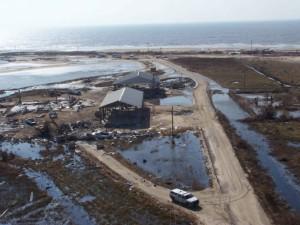 kuće, uništene, hirricane, pogled iz zraka