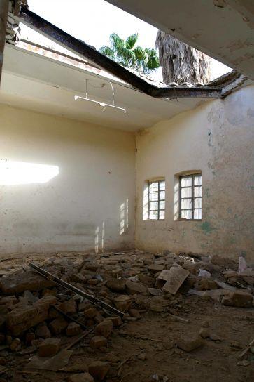 irak, dommages, Muthenna, intermédiaire, école