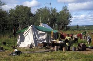 rivière, pêche, camping
