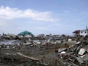 wealthy, area, Aceh, completely, destroyed, tsunami, flooding