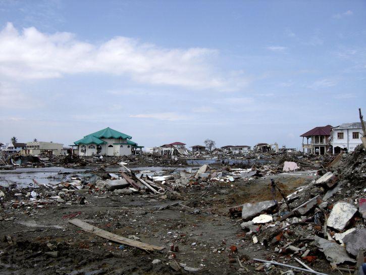 reichen, Fläche, Aceh, vollständig zerstört, Tsunami, Überschwemmungen