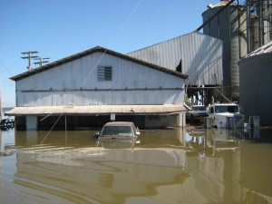 eaux, inondé, camions, l'agriculture, l'équipement