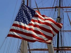 Amerikan, bayrağı