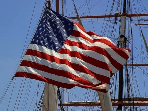 Amerikansk, flagga