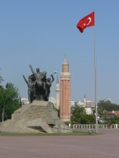 Ataturk, statue, parc