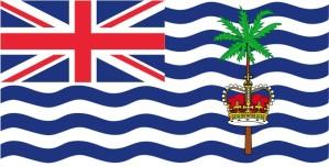 bandera, británico, indio, océano, territorio