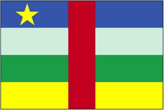 国旗, 中部, 非洲, 共和国