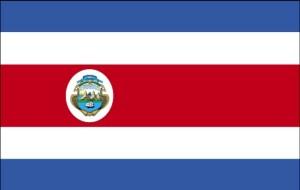 bandera, Costa, Rica
