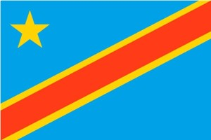 flag, Demokratiske Republik Congo