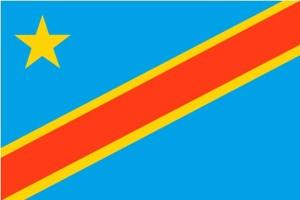 flag, Democratic republic Congo