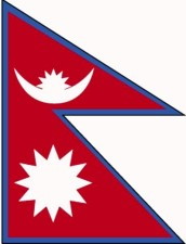 vlag, Nepal