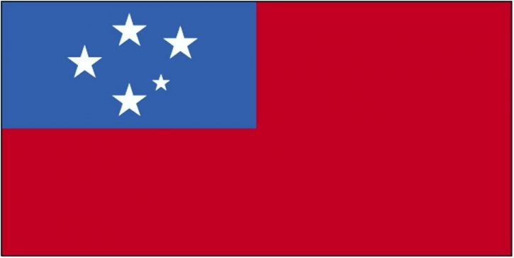Fahne, Samoa