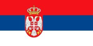 bandera, Serbia