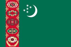 Flagge, Turkmenistan