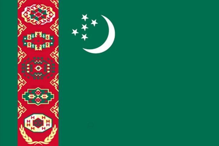 drapeau, Turkménistan