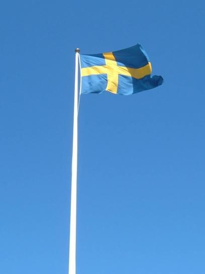 drapeau suédois, mât