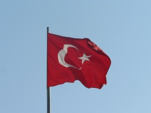 Turkish flag, mast