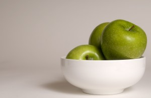 clean, fresh, green, colored, Granny Smith apples
