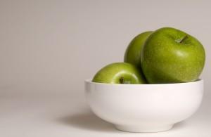 čisto, svježe, zelene, boje, Granny Smith jabuke