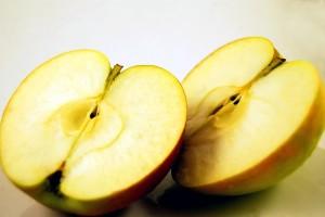 sliced, apple