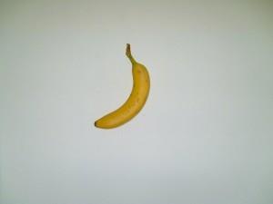 banana, fruit, white background