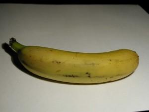 banán, biele pozadie