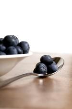 bleuets, bonne, source, vitamine