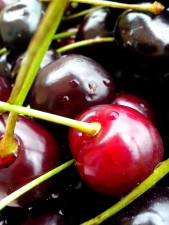 cherries, drops, dew