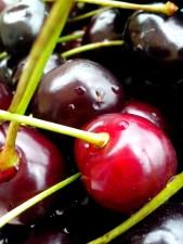cherries, drops, dew