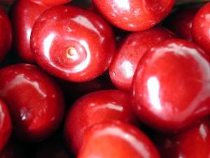 roşii, cireşe, stoc, fotografie