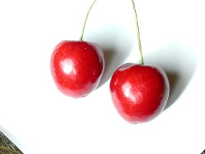 two, red, cherry